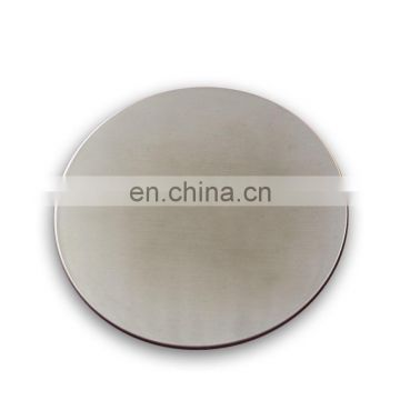 low price factory customized laser logo make stainless steel round shape coaster
