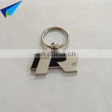 2017 fashion gift box package metal custom key ring with logo