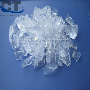 best purity quartz sample free crystalline fused silica lump fused for surface coating glass refractory