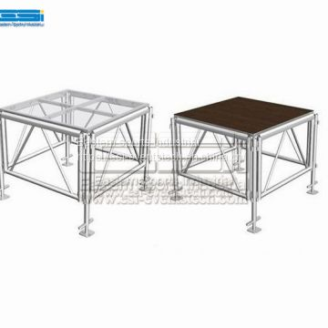 Cheap used heavy duty wooden portable riser outdoor modern wedding event stage platform for sale
