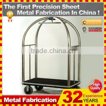 kindle 2014 new durable folding professional customized shopping cart with metal basket for sale
