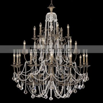 full family customization crystal chandelier&matching wall lamp american style finish in oil bronze