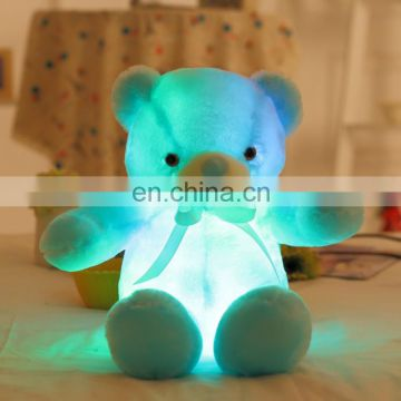 Interesting plush toys led teddy bear gift for children