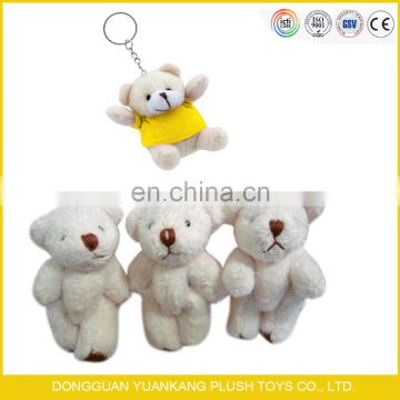 custom wholesale low price small mini bear plush keychain teddy