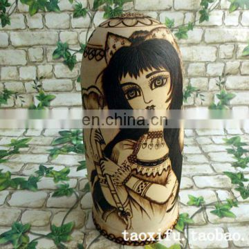 2013 hottest sale wood russian nesting dolls matryoshka