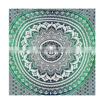 Ombre Bedspread Wall Hanging Indian Bohemian Decor Twin Blanket Mandala Tapestries Throw Indian ethnic decorative art
