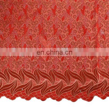 2016 New arrival 100% cotton coral voile lace embroidery lace embroidery lace for lady