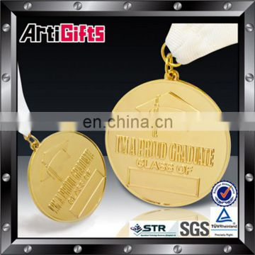 Good quality gold bronze spartan medal with white lanyard