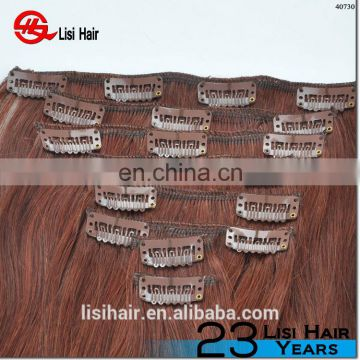 YBY 2016 Hot Selling Best Quality Remy plastic clip for hair extensions