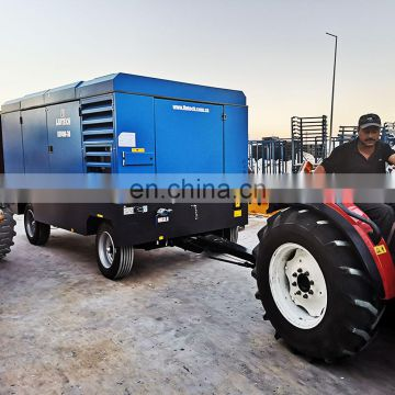 Moving convenient 110kw single phase electric air compressor for mining