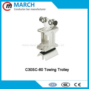 High quality festoon cable trolley for crane hoist