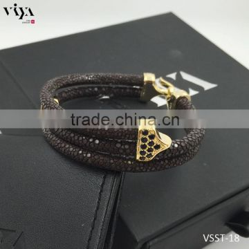 Hot sales genuine ladies stingray bracelet model with CITES Certificate