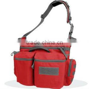 new disign cute red canvas messenger bag