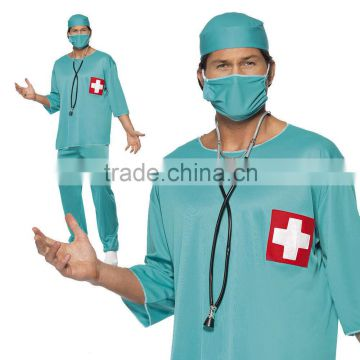 Adult Surgeon Fancy Dress Costume Scrubs Doctor Hospital Uniform Stag Night
