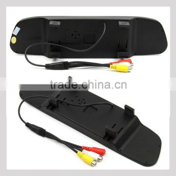 hot selling car audio system with reverse camera and sensor 4.3inch rear view mirror lcd monitor easy installation