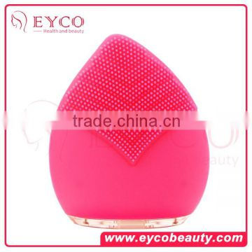 Acne Removal Multi-Functional Mini Silicone Vibration Facial Cleansing Brush With Skin Cool Light Rejuvenation Beauty Care Equipment And Supersonic Facial Beauty Device Optical Glass