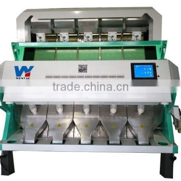 5 chutes Colored camera CCD monsooned coffee beans color sorting machine