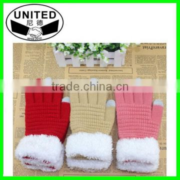 Mix Colors Winter Knitting Screen Gloves for Smartphone Top Top Sellers