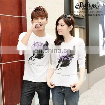 Peijiaxin Casual Style Hot Selling Fashion Printed Cheap Couple T shirt