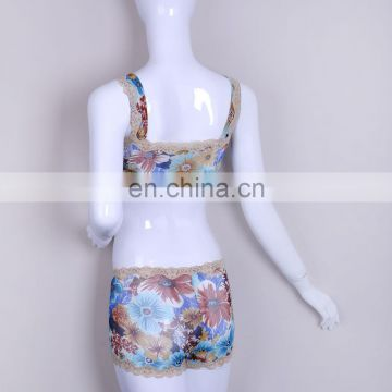 Cheap Price Beautiful Mature Women Flower Print Seamless Briefs
