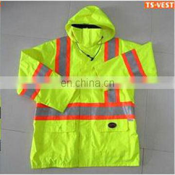 high visibility winter reflective safety jacket with knitted backing