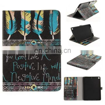 Wholesale Color Painting Flip Leather Case for iPad 9.7 2017, with Card Slots
