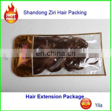 2017 hot sale golden and sliver bag for velcro hair extensions
