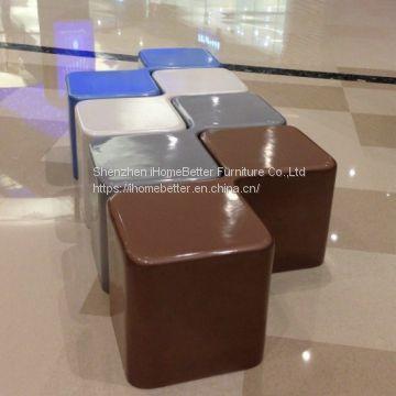 Fiberglass Bench Shopping Mall Stool Modern Bench of FRP Chair/Stool ...
