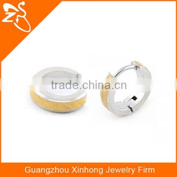 High quality 316l stainless steel hoop earrings for men gold plated body jewelry
