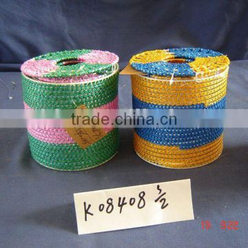 Colorful Decor Round Paper Rope Tissue Box