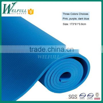 High Density Exercise Yoga Mat with Comfort Foam and Carrying Straps