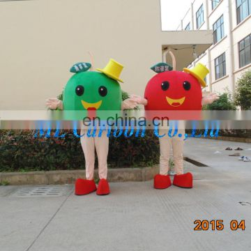 Hot sale Cartoon Costumes Ideas red apple fruit mascot costume