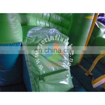 Best quality inflatable bouncy slide kids rabbit green inflatable slide cheap price dry slide for sale