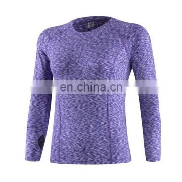 Women compression hoodie top plain blank clothing for gym tshirt