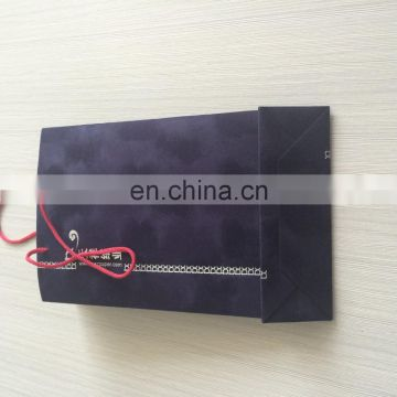 New! New Design Dark Navy Blue With Silver Hot Foil Logo Velvet Flocking Bag