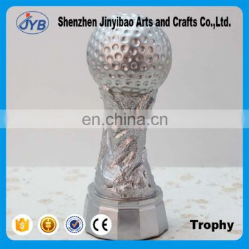 Wholesale silver color plating plastic cup football Trophy for kids