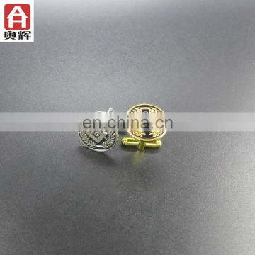Good quality die casting 3D unique tie clips cufflinks set plastic tie clip
