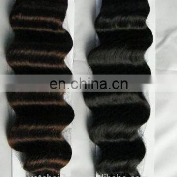 Top selling qingdao hair factory higher quality grade 7a double drawn raw russian hair deep wave