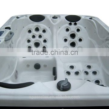 Square whirlpool spa large plastic tubs for adults with surf pool China
