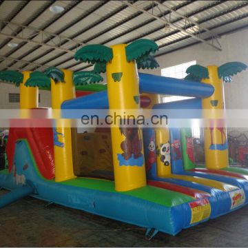 hot sale jungle inflatable bouncy castle with slide