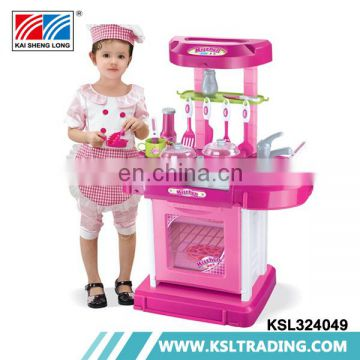 Play house kids kitchen toys with light and music
