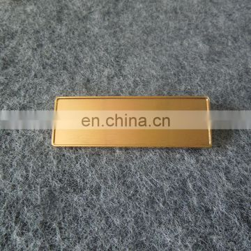 custom black gold plated name plate badge for hotel