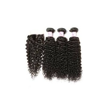 Tangle free Brown Curly Jerry Curl Human Hair Wigs