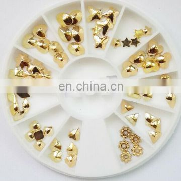 Wholesale popular gold nail product 3d nail art accessories