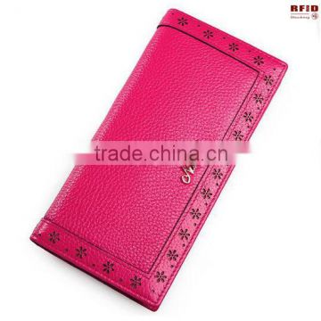 RFID Blocking Vintage Style Long Women Wallet/ Ladies hand Purse