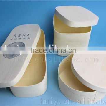 China Factory Supply Round Square Rectangle Thin Lightweight Balsa Wooden Cheese Boxes For Sale