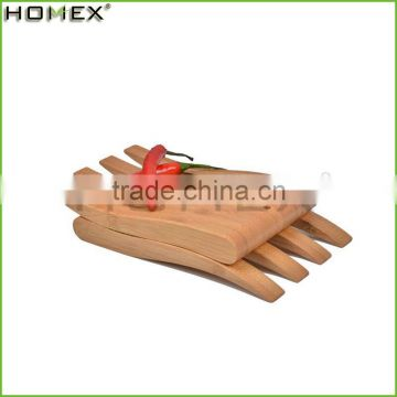 Factroy Price High Quality Bamboo Salad Serving Hands, kitchen utensil, wooden salad hands/Homex_Factory