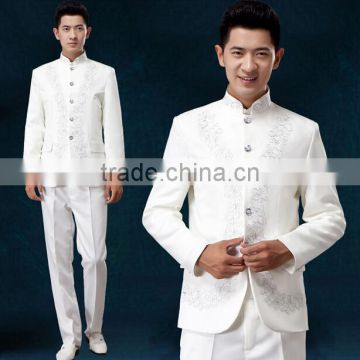 custom cheap embroidery flower handsome outfit men music band