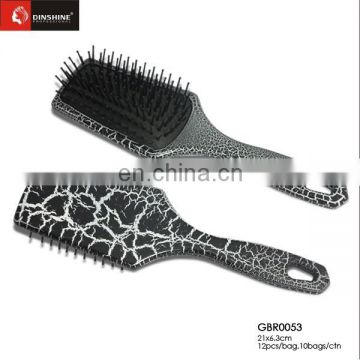 Paddle Plastic Hair Brush metal pins Hair Brush