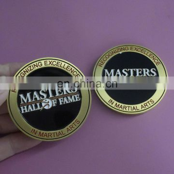 Vintage Brass 3D Souvenir Coin Design, MASTERS HALL OF FAME Metal Zinc Alloy Coin Custom